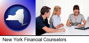 New York, New York - a financial counseling session