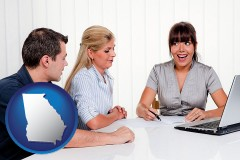 ga map icon and a financial counseling session