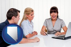 nv map icon and a financial counseling session