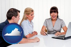 va map icon and a financial counseling session